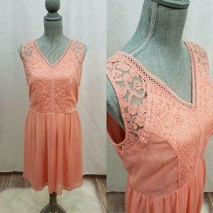 NWT AGB Lace and Crochet A Line Dress